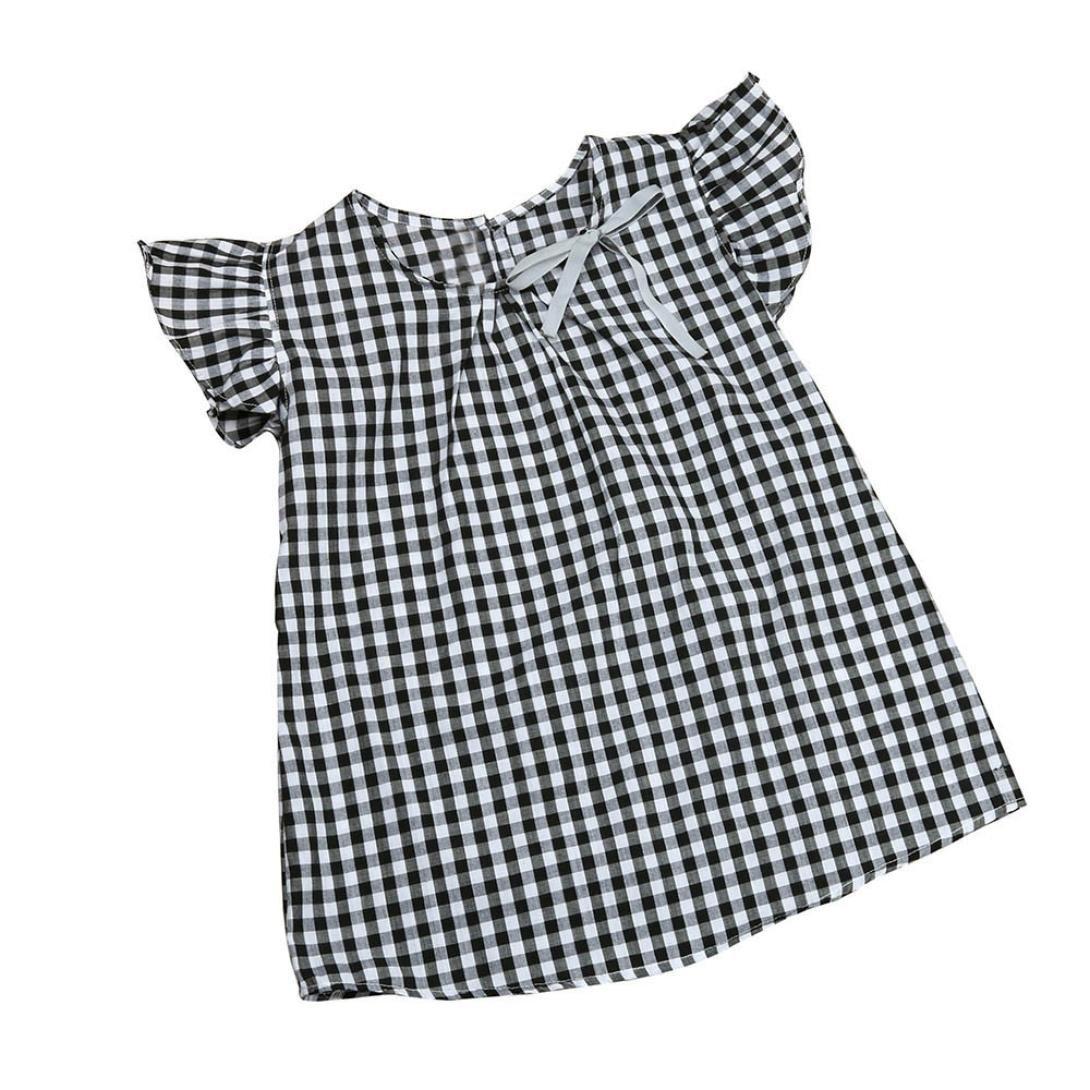 Vestido nina, Switchali Infantil Recién nacido Bebé Niñas verano sin manga floral vestido linda moda