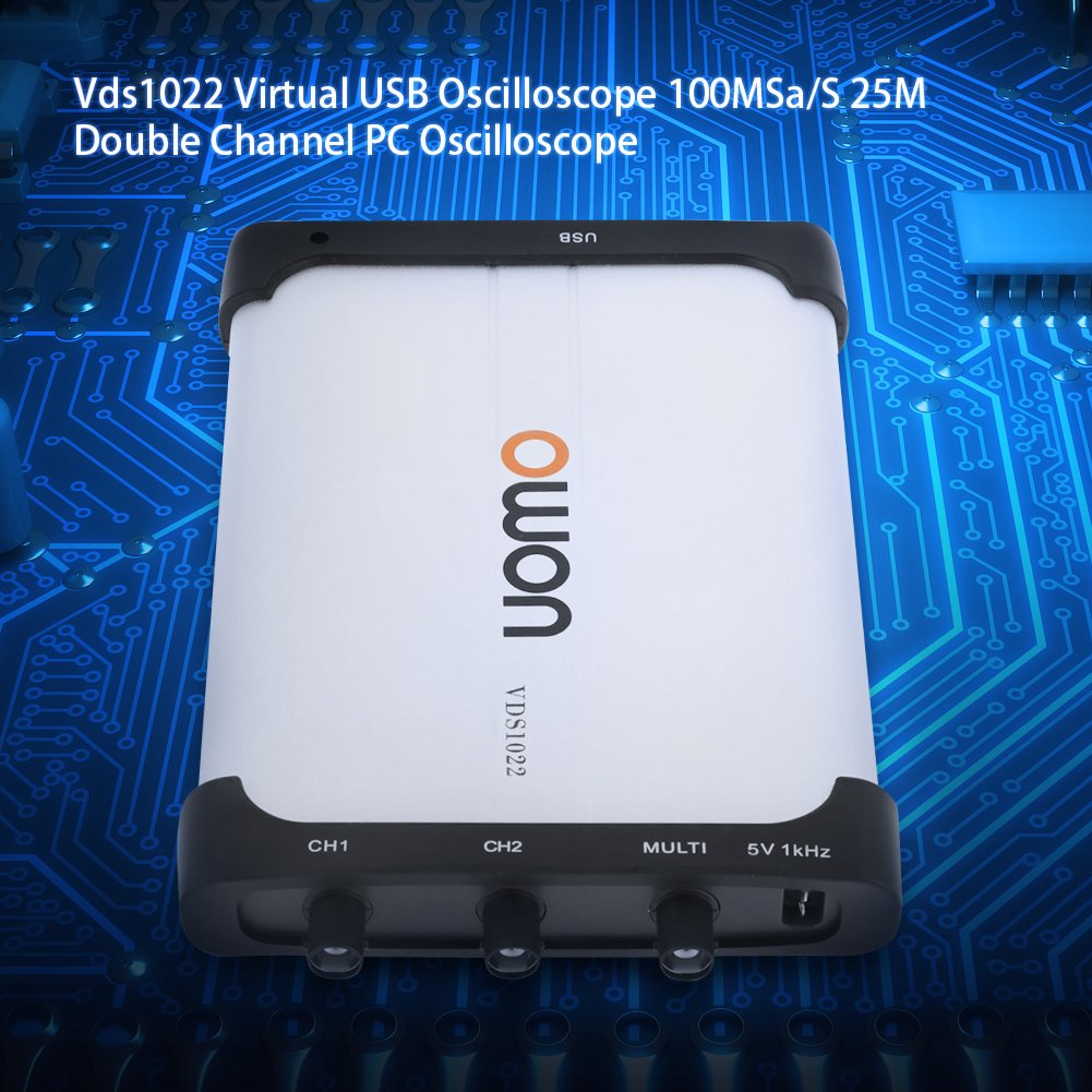 Osciloscopio Virtual vds1022/osciloscopio USB a doble canal 100/msa//s 25/m.