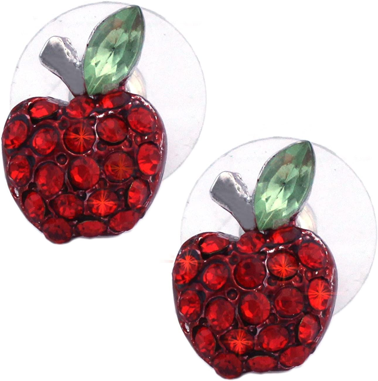 cocojewelry Small Red Apple Fruit Earrings Women Jewelry Gift Box