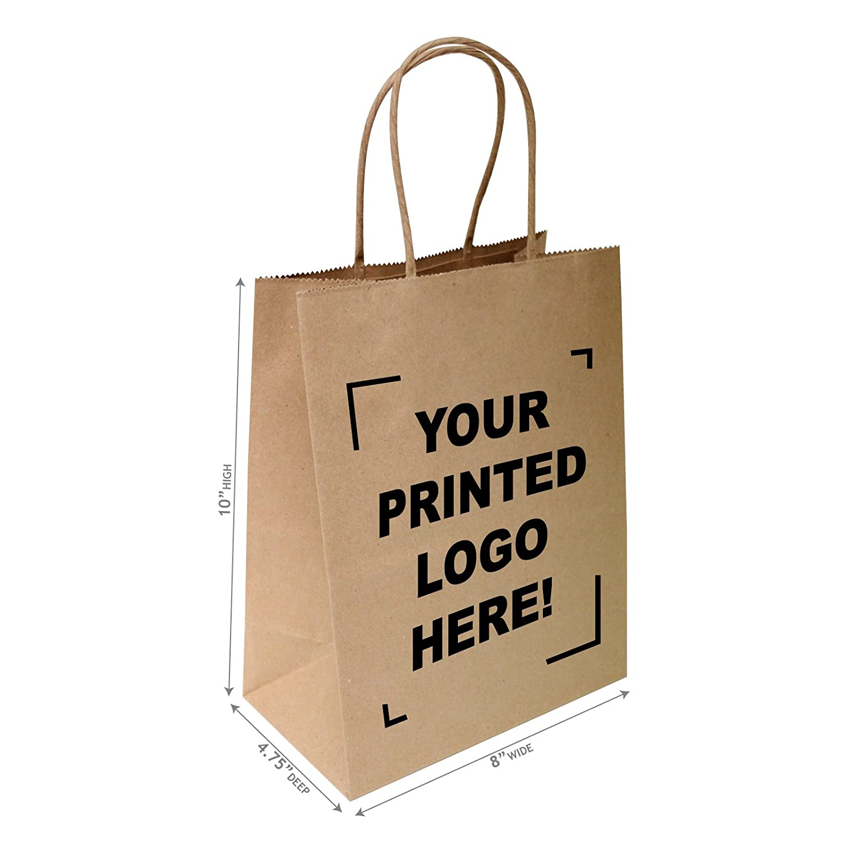 Bespoke Printed Personalised Eco Friendly Gardening Gift 20 Kraft Brown Packets