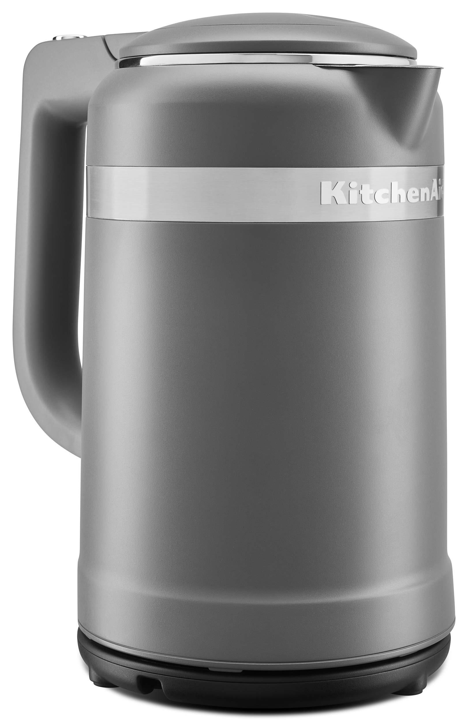 KitchenAid KEK1565DG Water Electric Kettles, 1.5 L, Matte Charcoal Grey