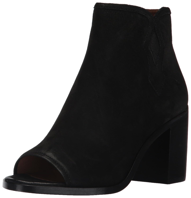FRYE Women's Danica Peep Bootie Boot B01N1YQLCV 9.5 B(M) US|Black Nubuck