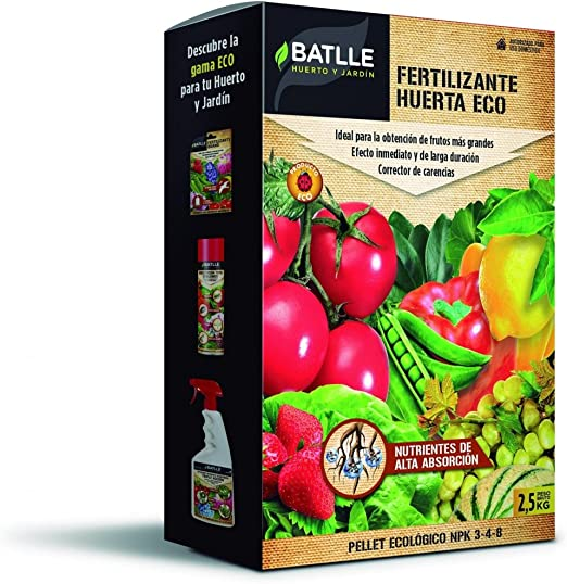 Semillas Batlle Fertilizante Huerta Pellet, Rojo, 20.3x7.4x31.1 cm ...