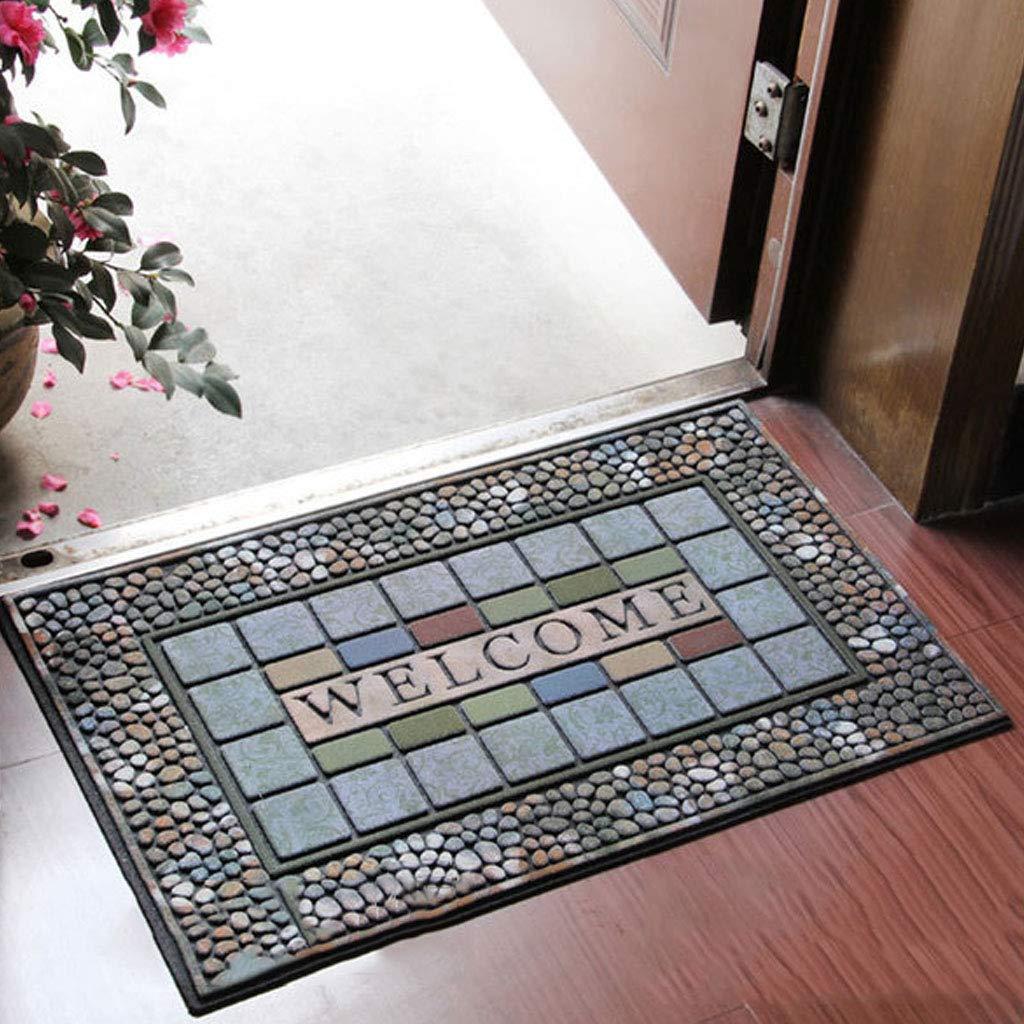 Carpet Outdoor Thickening Flocking Carpet Home Non-Slip Mat Doorway Ottomans Environmental Protection Rubber Rug