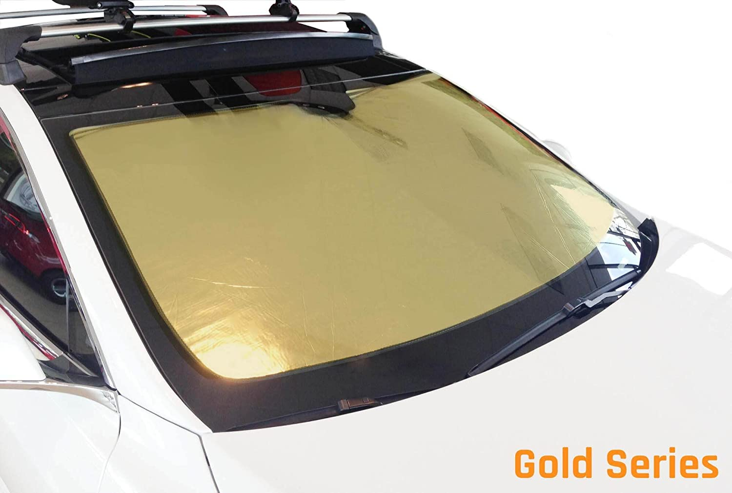 Crew Cab 1995-2004 w//o R.V.M HeatShield The Original Auto Sunshade Custom-Fit for Toyota Tacoma Truck Gold Series