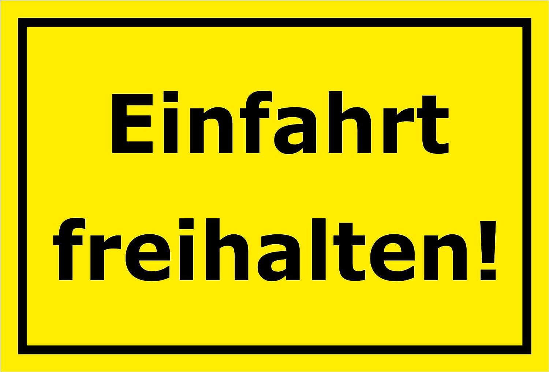 15x10cm 3mm Aluverbund S00065-067-C -20 VAR Bohrl/öcher Melis Folienwerkstatt Schild Einfahrt freihalten