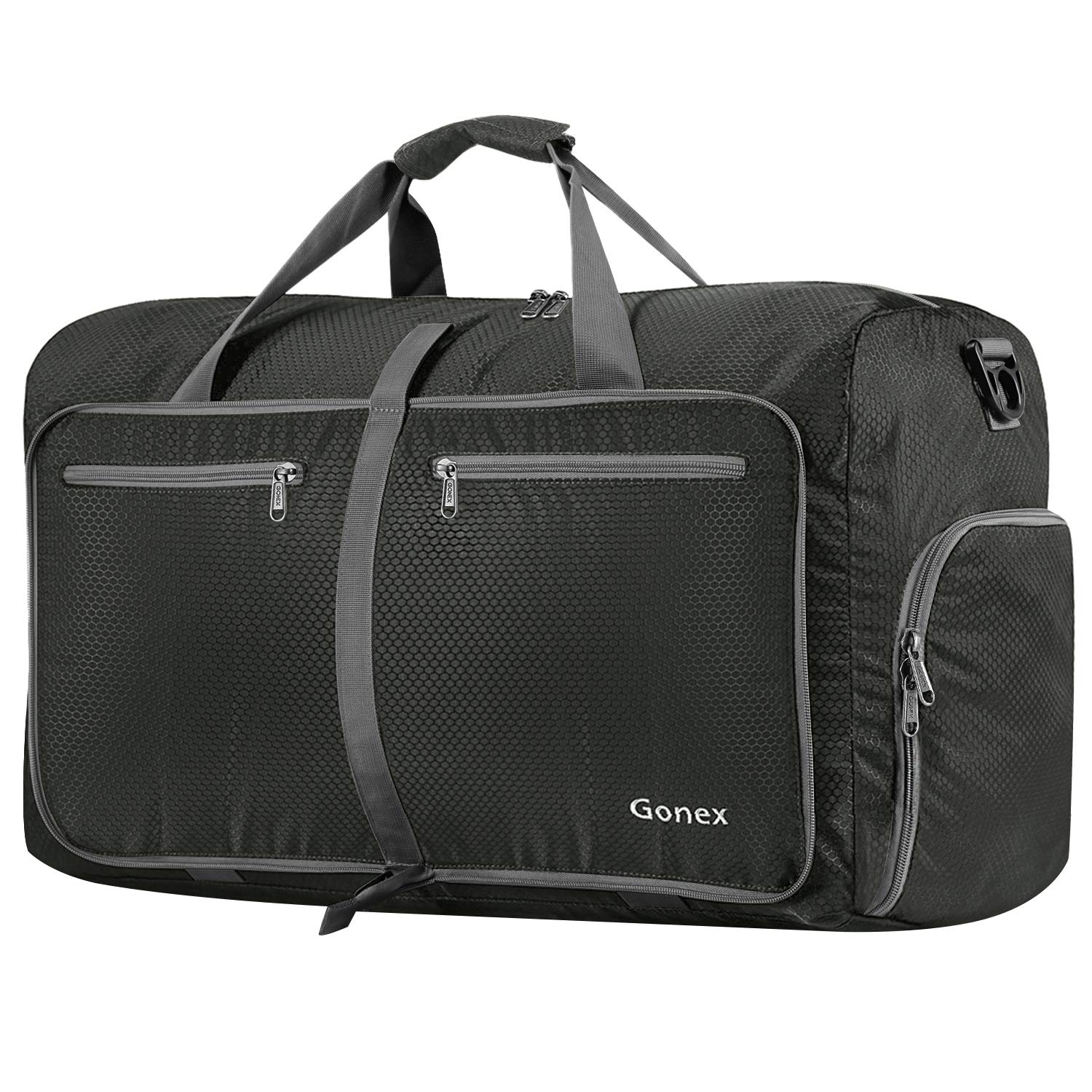 Gonex 80L Foldable Travel Duffle Bag for Luggage, Gym, Sport, Camping, Storage, Shopping Water Repellent & Tear Resistant Grey product image