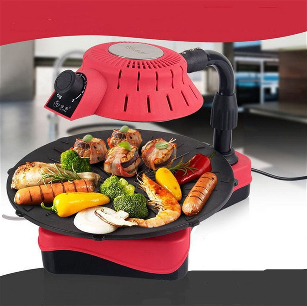 CLODY Smokeless Grill Home Easy 3D Infrarrojos Antiadherente ...