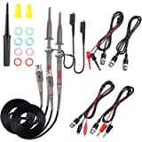Universal Oscilloscope Probe with Accessories Kit 100MHz Oscilloscope Clip Probes with BNC to Minigrabber Test Lead Kit