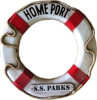 product image for Piazza Pisano Nautical Home Port Life Ring Personalized
