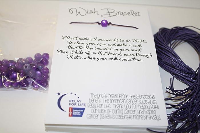 vente professionnelle couleurs et frappant États Unis Amazon.com: Relay For Life Fundraiser Wish Bracelet Kit ...