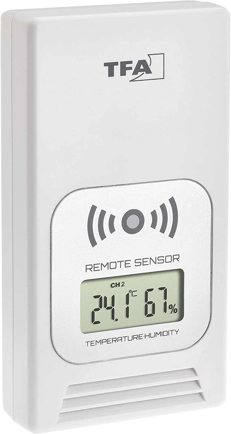 Replacement L55 x B40 x H130 mm Outdoor Transmitter for Wireless Weather Station Life 35.1153 TFA Dostmann Temperatursender mit Temperature Display White