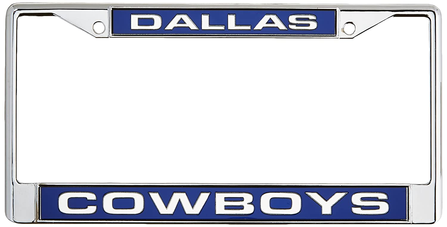amazoncom dallas cowboys laser cut chrome plate frame sports fan license plate frames sports outdoors - Michigan State License Plate Frame