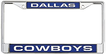 dallas cowboys license plate frame chrome metal