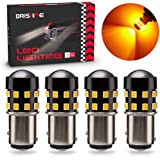 BRISHINE 4-Pack Super Bright 1157 2057 2357 7528 1157A LED Bulbs Amber Yellow 9-30V Non-Polarity 24-SMD LED Chipsets…