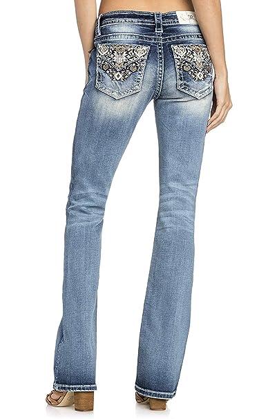 Amazon.com: Miss Me – Pantalones vaqueros para mujer, diseño ...