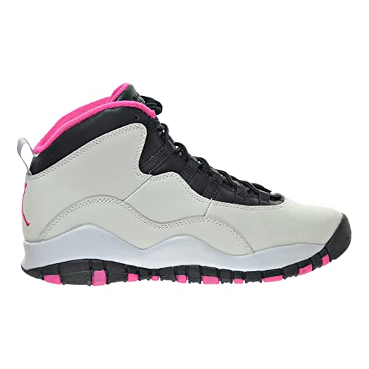 Jordan Air 10 Retro (GS) Girl's Shoes Pure Platinum/Vivid Pink/Black
