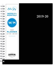 "Blue Sky 2019-2020 Academic Year Weekly & Monthly Planner, Flexible Cover, Twin-Wire Binding, 7"" x 9"", Firefall"