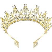 REYOK Boda Novia de Diadema Corona Brillante Diadema de Diamantes de Imitación Peine Novia Tiara de Cristal corona de…