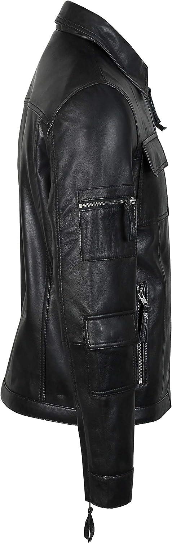 Riding Jacket Genuine Leather Jacket Light Weight Coat, Classic Motorcycle Jacket