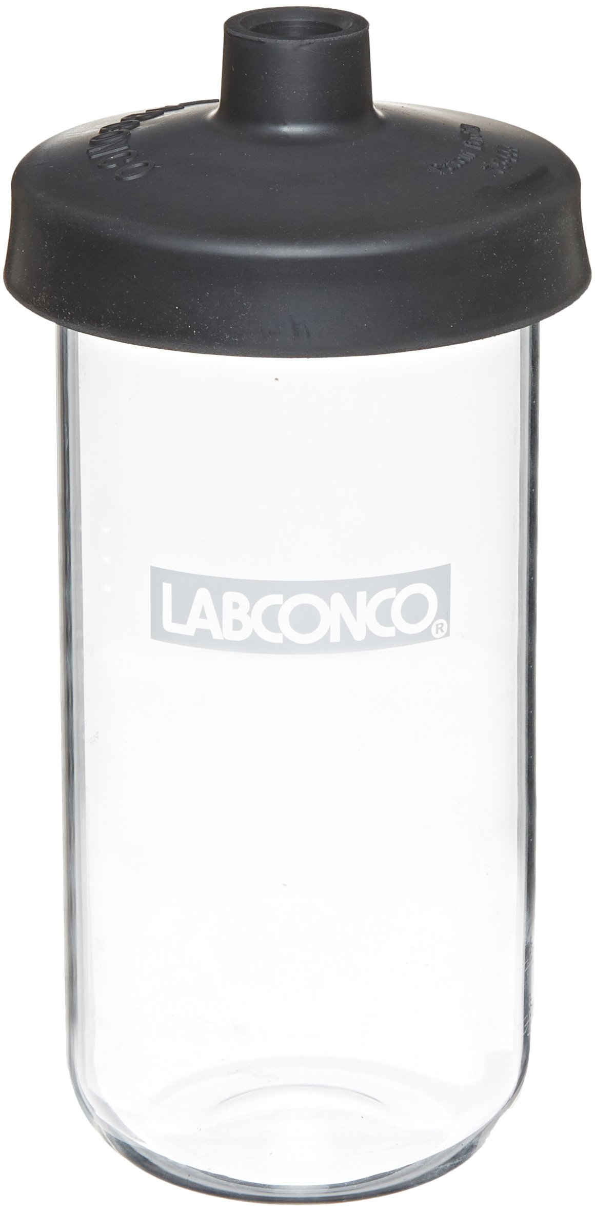 Labconco Fast Freeze 7540900 Borosilicate Glass Wide Mouth Flat Bottom Complete Flask, 900ml Capacity by Labconco