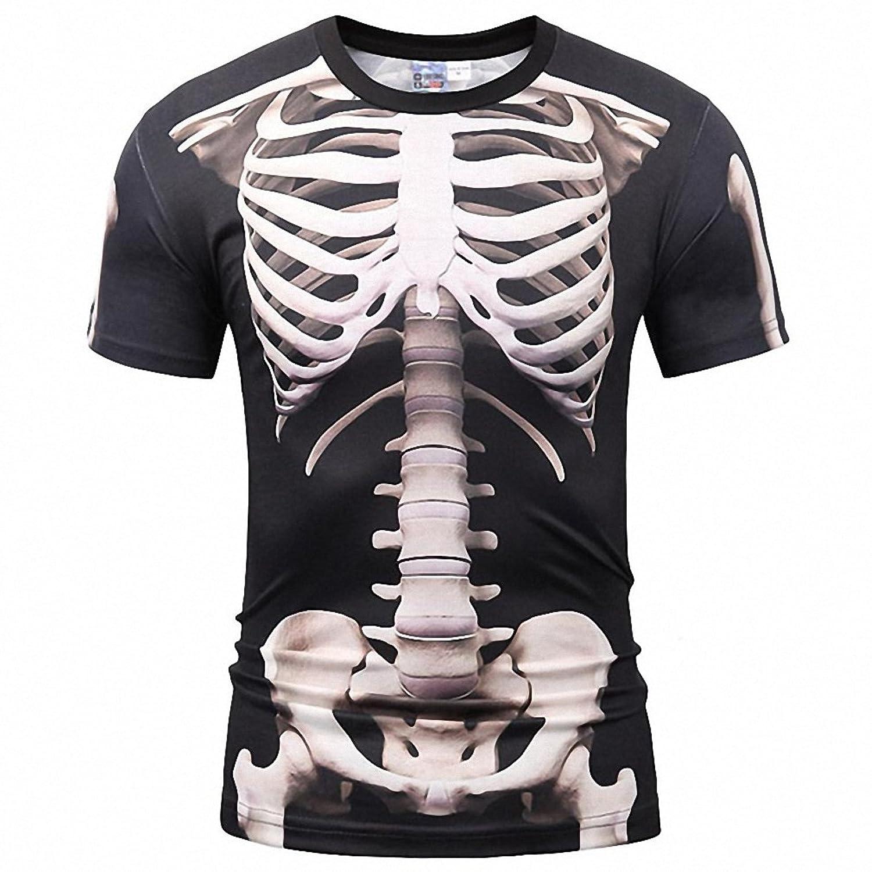 ICONLEE Europe America Fashion Men/Women T-shirt 3d Print Skeleton Skulls T-shirt Summer Tops Tees Brand T shirt at Amazon Womens Clothing store: