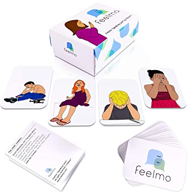 Feelmo Speaking Cards: Set of 36 Professional Feeling Flashcards, Emotional Intelligence Flash Cards for Kids Counseling, CBT Child Therapy Games for Therapists, Parents, Teachers, Counselors: Toys & Games