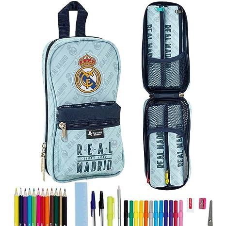 Safta Neceser Con 4 Estuches y útiles Real Madrid ...