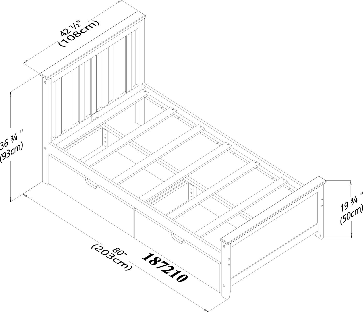 Max & Lily Solid Wood Twin-Size Bed with Under Bed Storage Drawers, Natural by Max & Lily (Image #6)