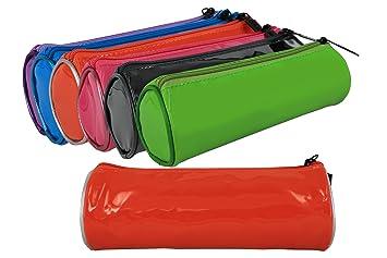 170059 - Pack de 2 estuches de colores lisos, tela plástico ...