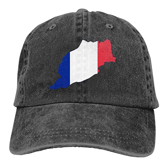 Mapa de Marruecos francés Unisex Personalizar Gorra de béisbol ...