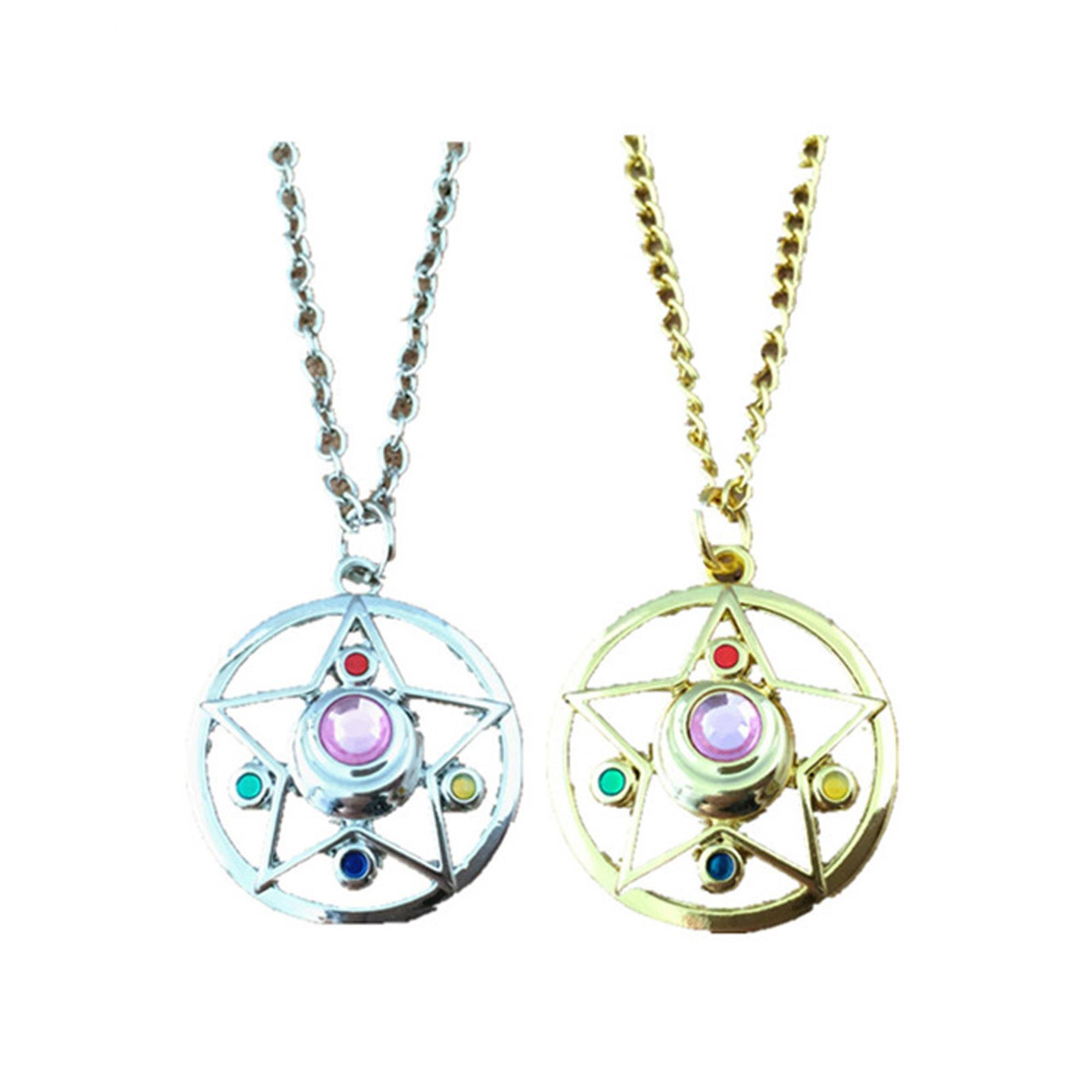 J&C Family Owned 18'' Two Pack Anime Sailor Moon Stars Necklace in Gift Box