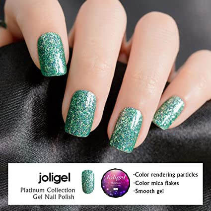 JOLIGEL Luccichio Platino Smalti Semipermanente Gel per Unghie Nail Polish  UV LED Lusso Manicure Pedicure Soak