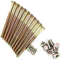 M6 meubelschroeven 40 mm / 60 mm / 80 mm / 90 mm / 100 mm, verzinkt koolstofstaal, met cilindermoeren, deuvelmoeren…