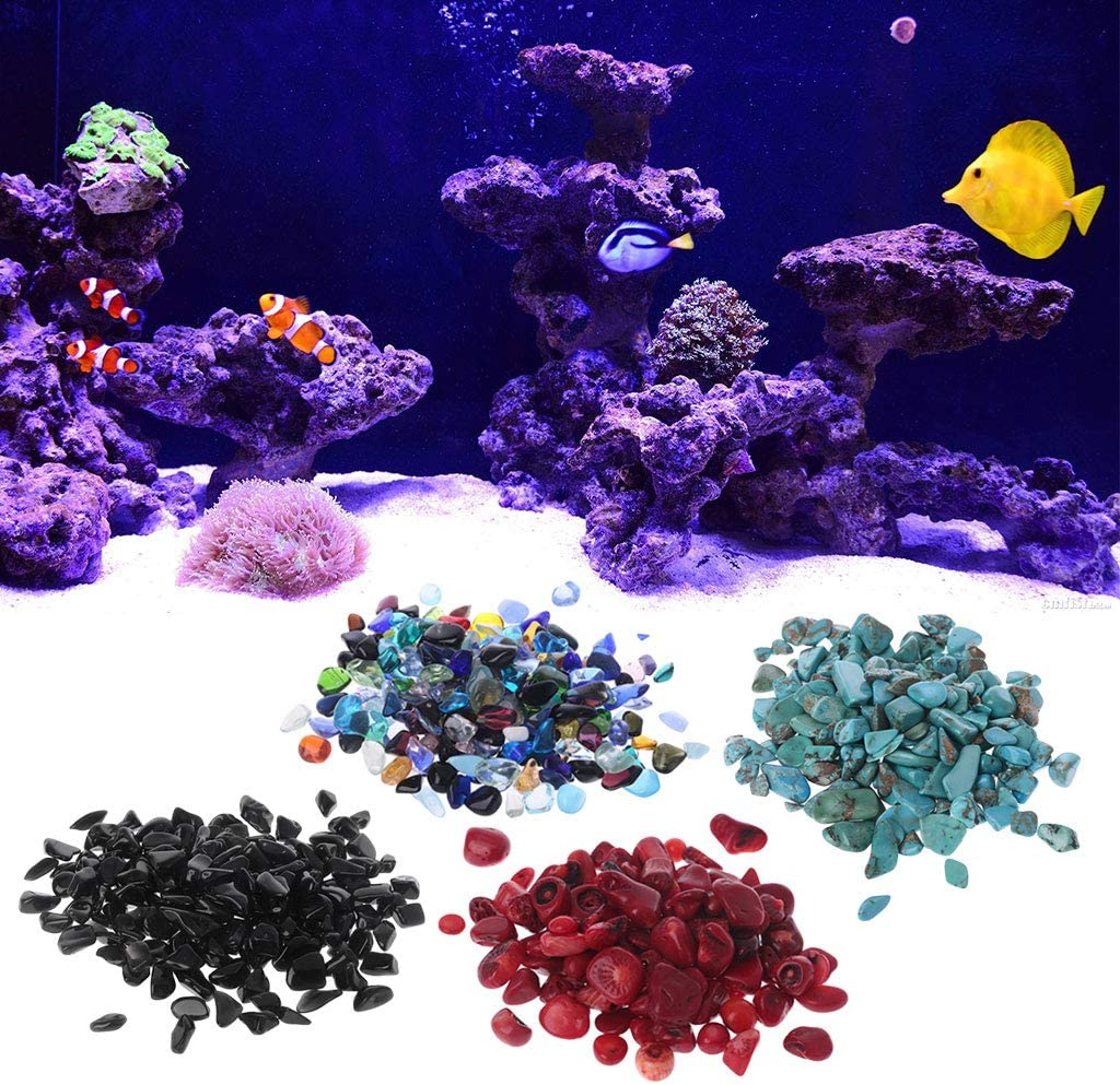 Ludzzi Naturstein Kieselstein Kristall Kies Blumentopf Aquarium DIY Dekoration