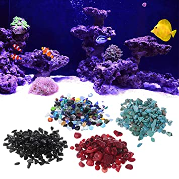 ecmqs piedra natural Caillou cristal Gravier - Maceta de flor Acuario DIY Décor 2: Amazon.es: Hogar