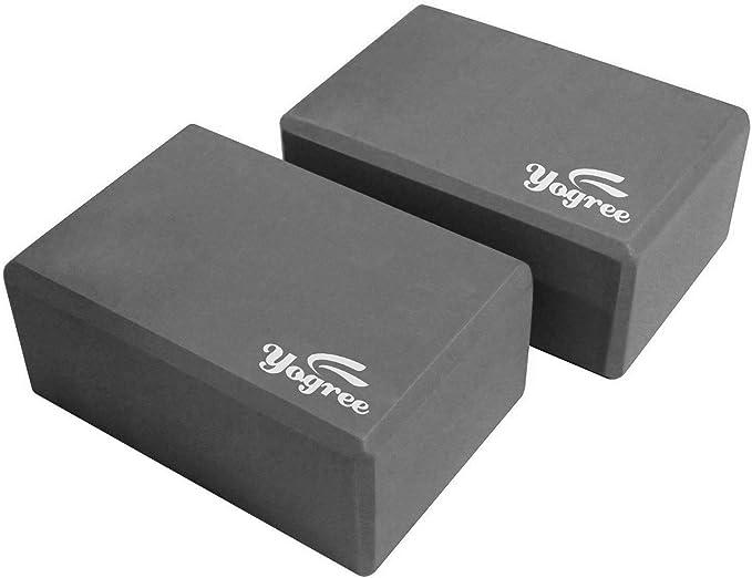 Amazon.com: Bloques de yoga Yogree de 9 x 6 x 4 pulgadas, de ...