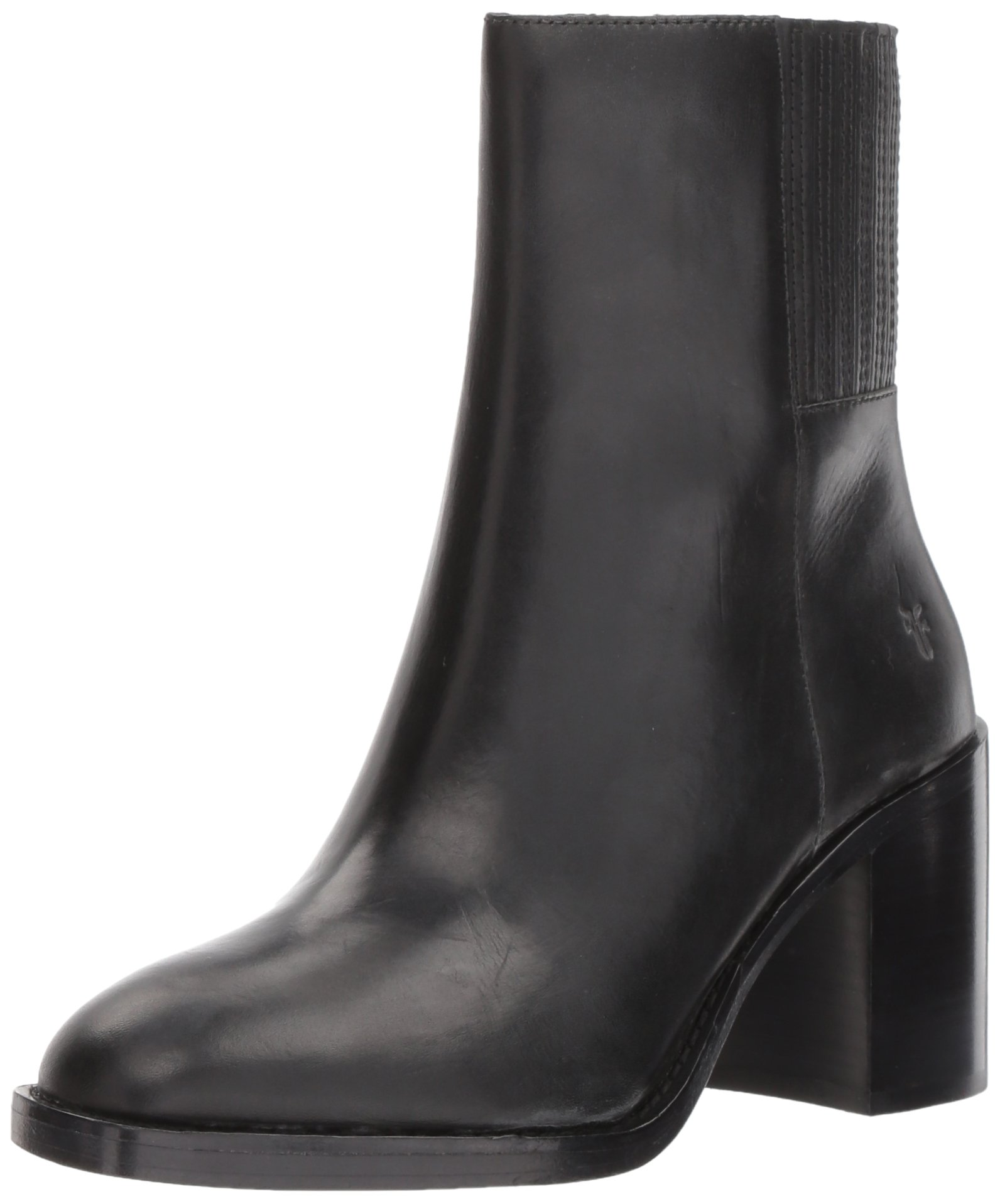 FRYE Women's Pia Short Chelsea Boot, Black, 7 M US