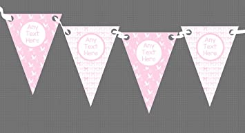 Pink Bows And Stork Girl Welcome Home New Baby Bunting Banner
