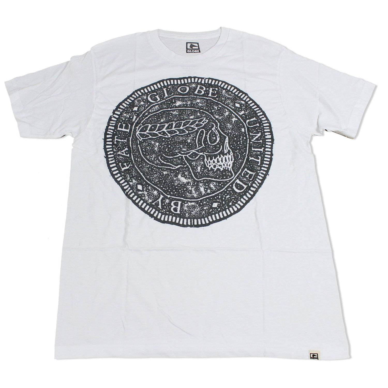 GLOBE Skate Shoes SHIRT CURRENCY WHITE Sz MED