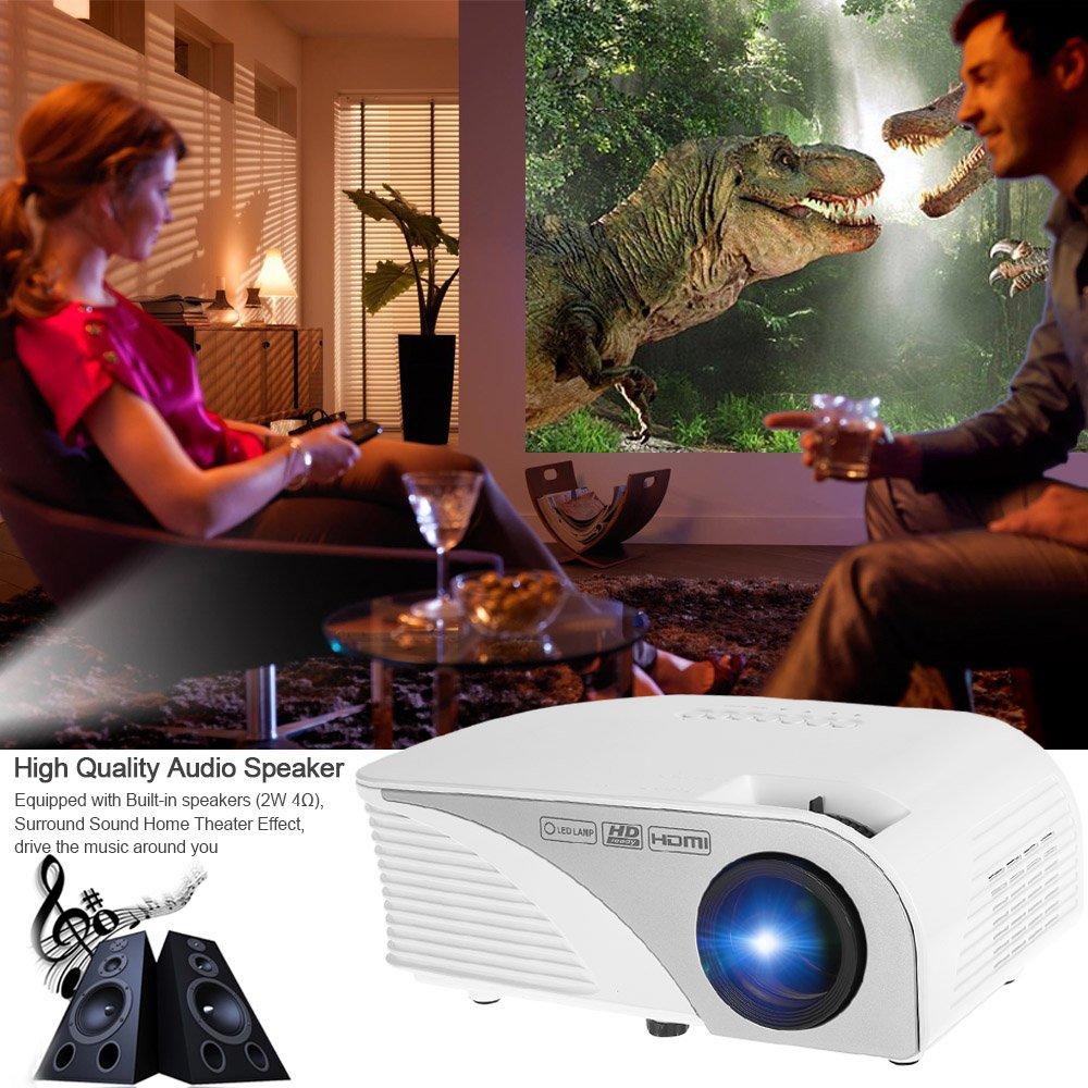Docooler 1200 Lumens proyector portátil 1080P LED Proyector Home ...