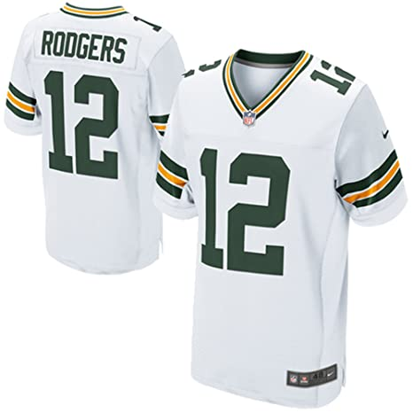 89a5624a0 Image Unavailable. Image not available for. Color  Nike Aaron Rodgers Green  Bay Packers White Authentic Elite ...