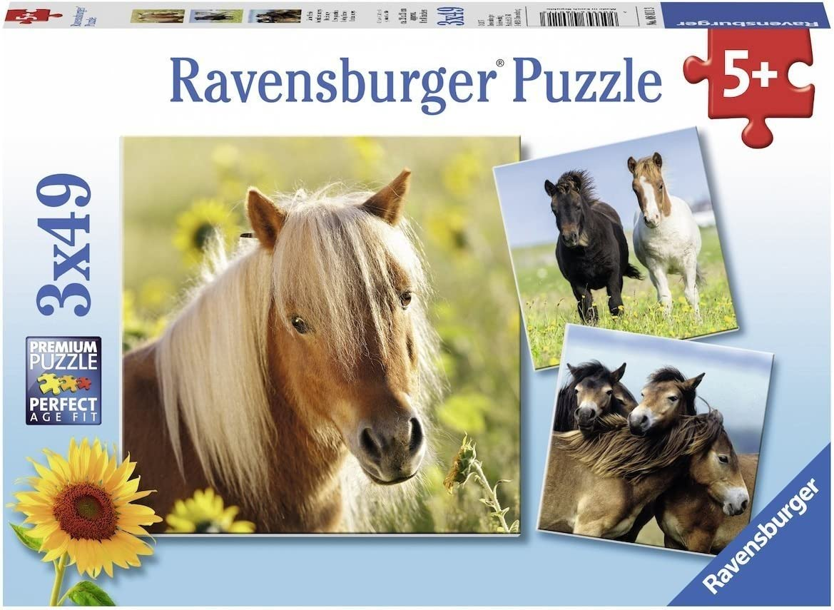 Ravensburger-4005556080113 Puzzle Infantil con diseño de Caballos, Multicolor (4005556080113)