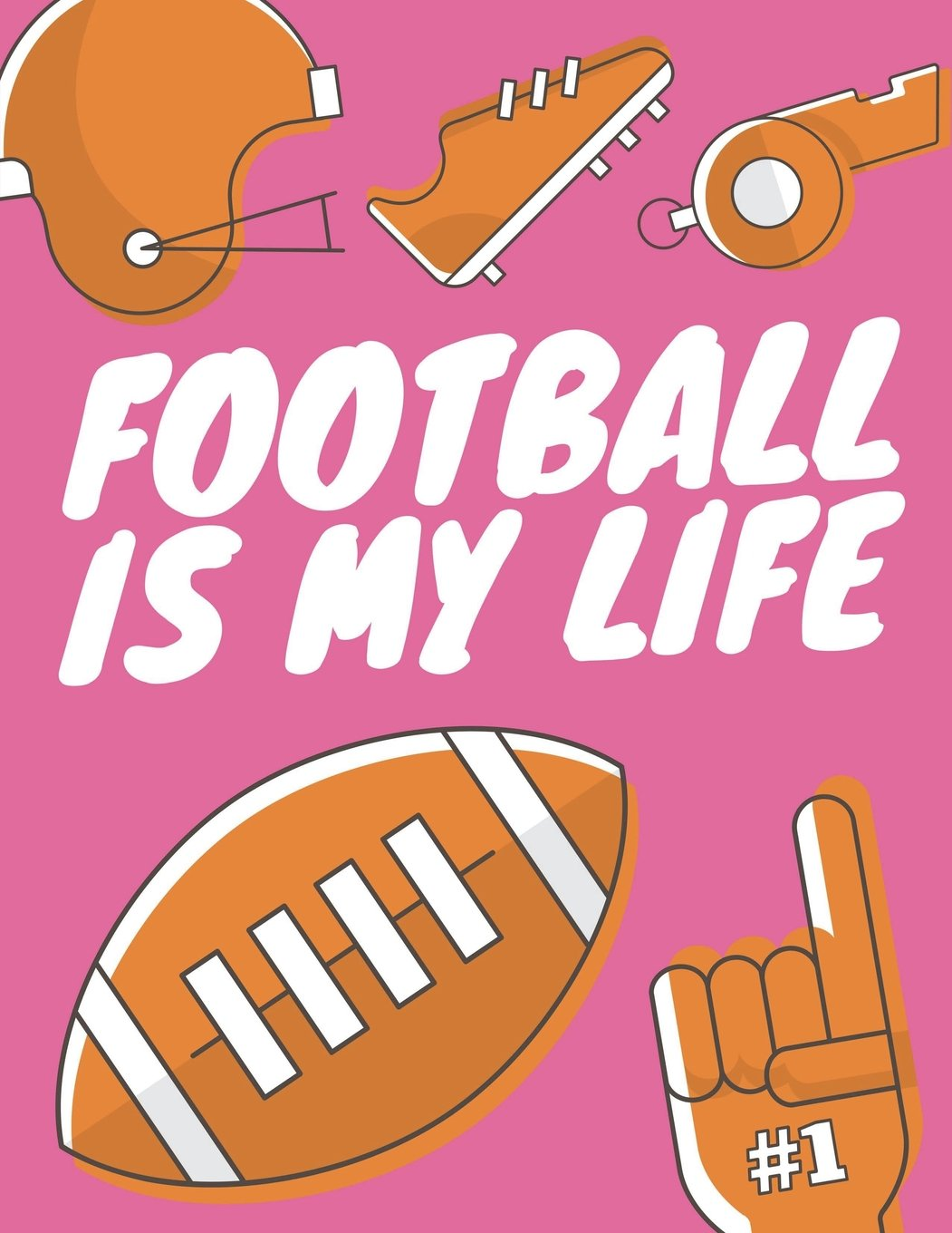 Football Is My Life: Football Composition Notebook, Great Gift for Football Fans, Players, Coaches (Football Notebooks) (Volume 9) pdf