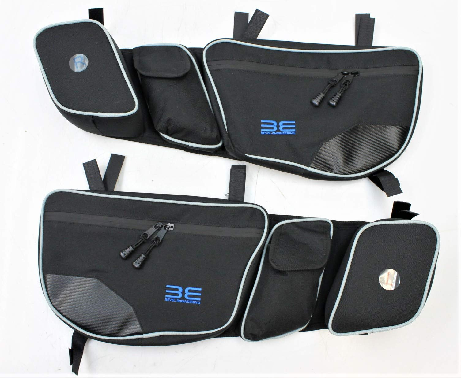 Bevel Engineering Door Bags for Can Am Maverick X3 2017 2018 Passenger And Driver Side Storage Bag with Knee Protection by Bevel Engineering