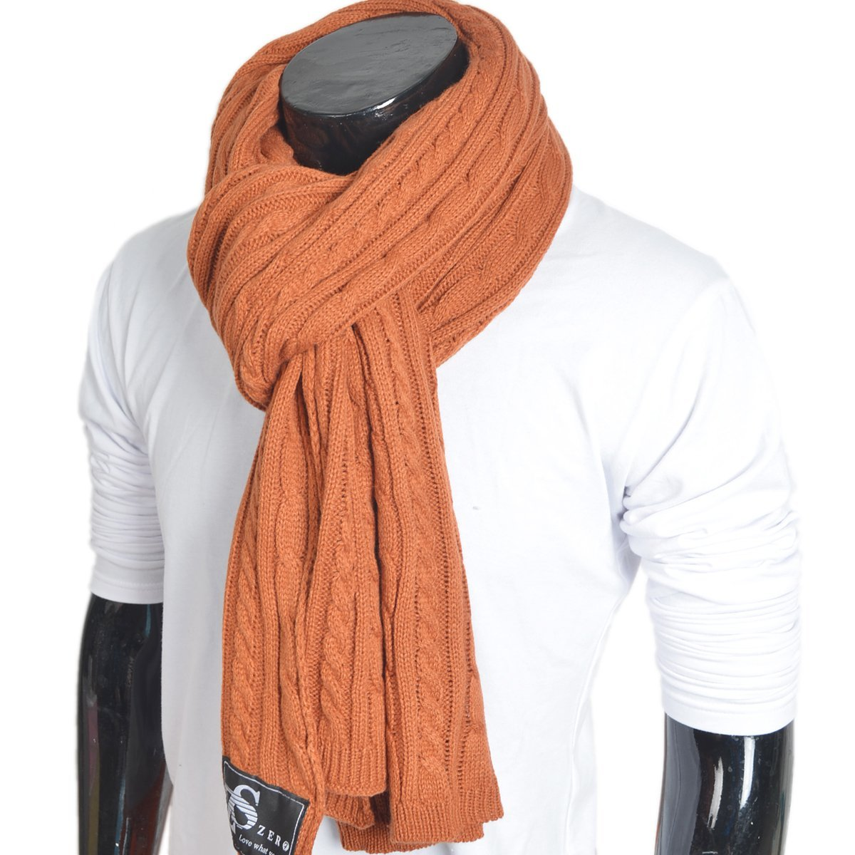 Men Women Cable Knitted Winter Scarf