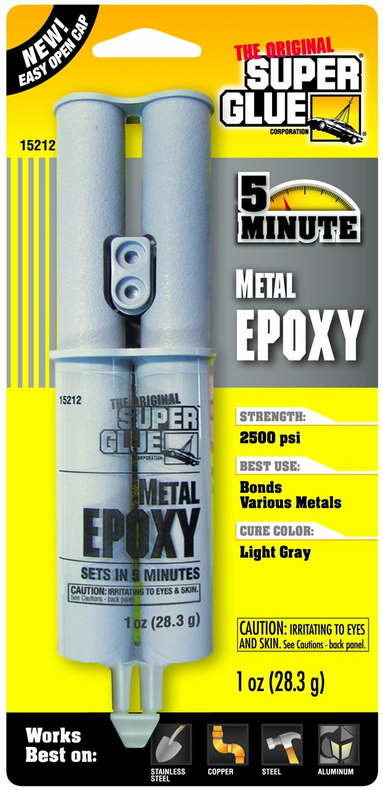 Super Glue Super Glue 15212-12 Quick Setting Metal Epoxy, 12-Pack(Pack of 12)