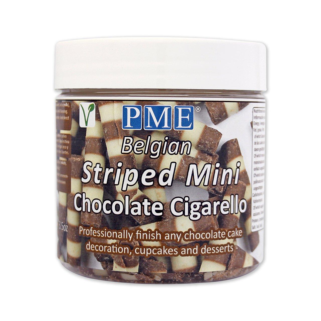 Puros Rayados de Chocolate Belga PME 100 g: Amazon.es: Alimentación y bebidas