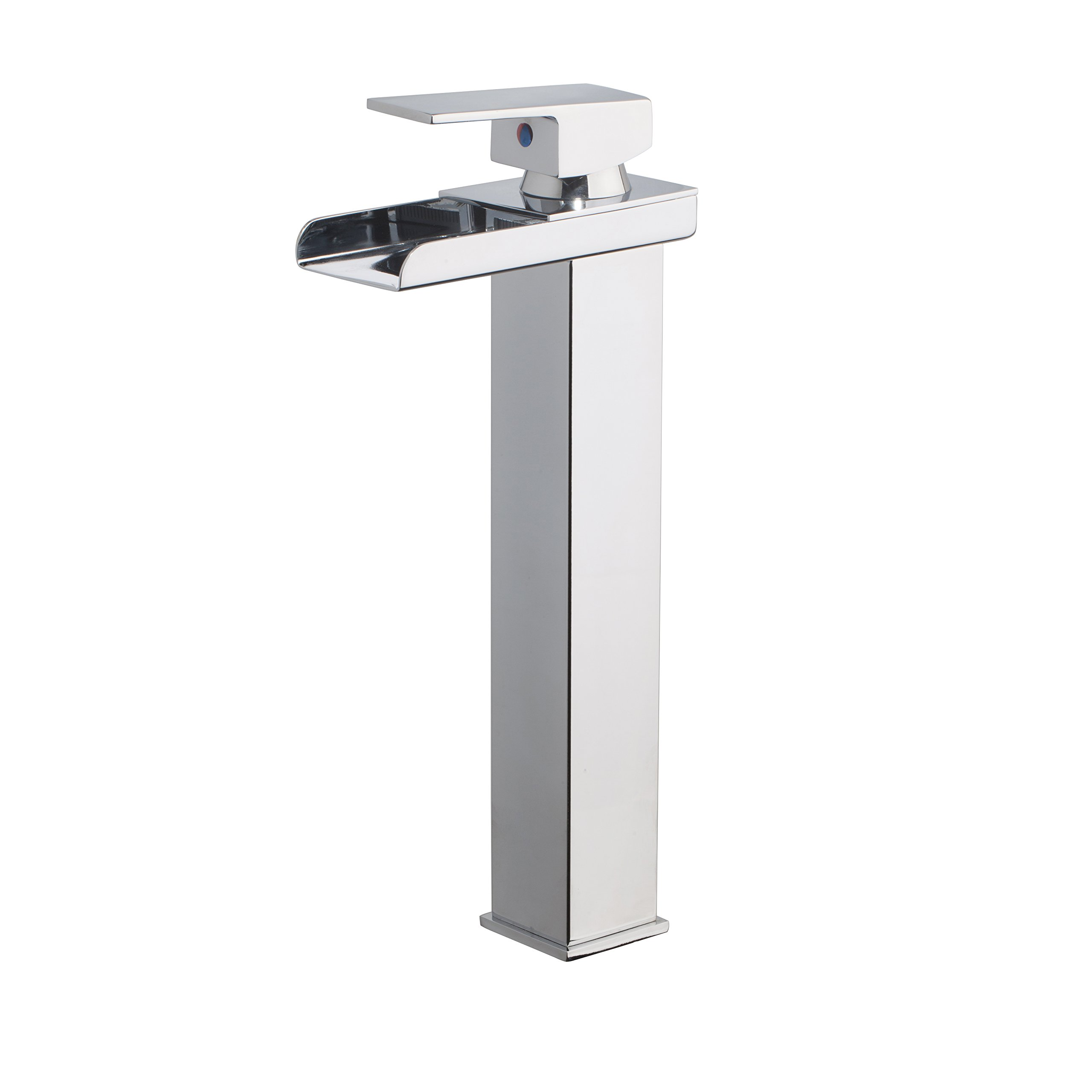 Bathroom Sink Faucets Waterfall Single Handle Basin Sink Mixer Taps Chrome Finish Yutfaucet by Yutfaucet (Image #1)
