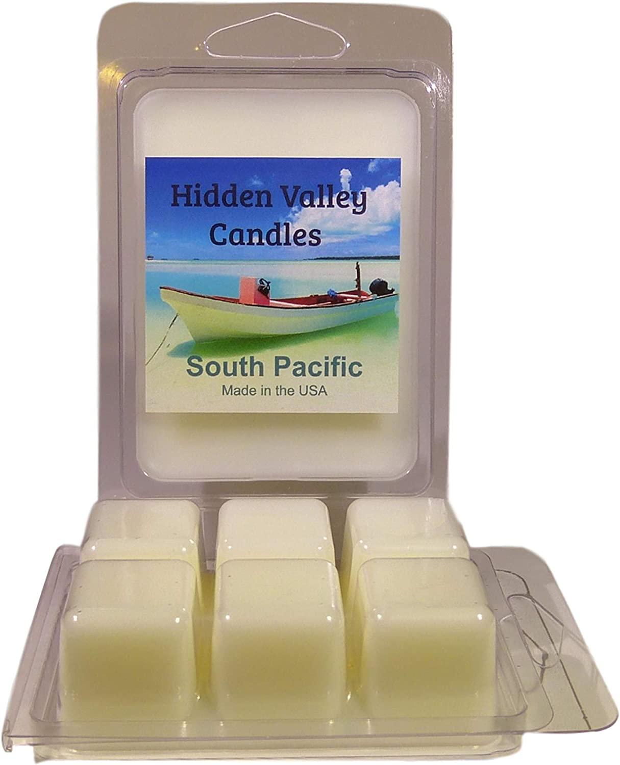 Hidden Valley Candles South Pacific Scented Wax Melts, 2 Pack. A Tropical Fragrance That You Will Love.